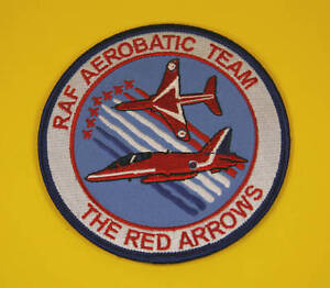 red Arrows Hawk Plane Embroidered Sew on patch FREE UK Delivery