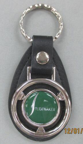 Green STUDEBAKER Mini Steering Wheel Black Leather Key Ring 1904-1966