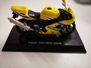 SUZUKI-GSX-R-600-NEWRAY-Modello-Moto-Mattoncini-da-collezione-modello-di-vetrina