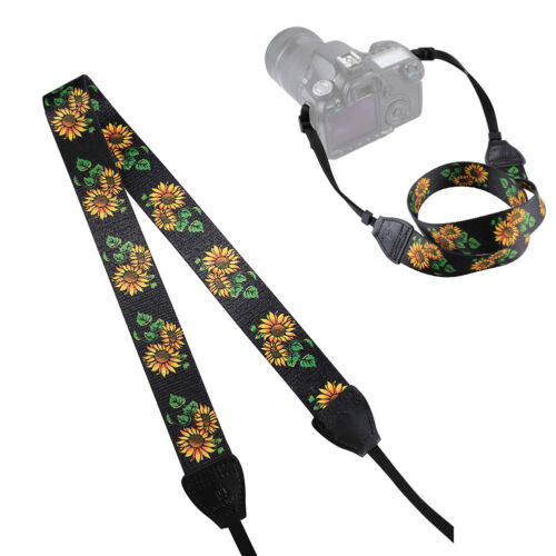 AU Ethnic Sunflower Shoulder Neck Strap for Canon Pentax Sony SLRDSLR Camera E