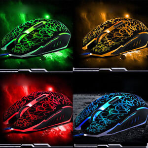 4000DPI-Adjustable-Optical-LED-Wired-Gaming-Mice-Mouse-For-Laptop-PC-Mouse-Lot