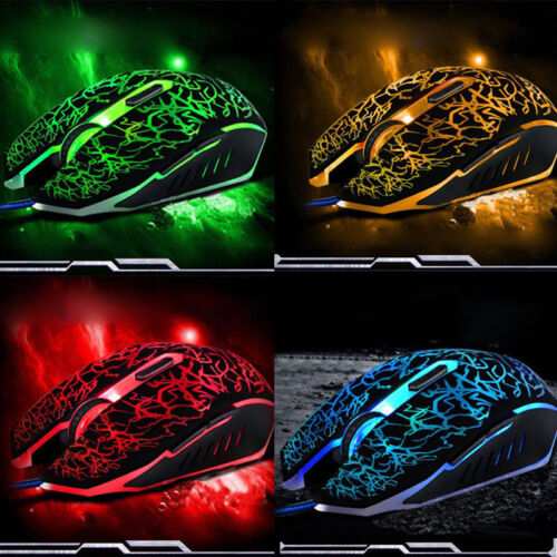 4000DPI LED Optical USB Wired Gaming Mouse 6 Buttons Gamer C