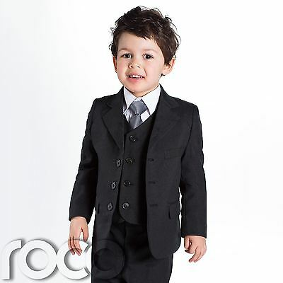 Provided Baby Boys Black Suit, Page Boy Suits, Baby Boys Wedding Suit, 1 - 14 Years Delaying Senility