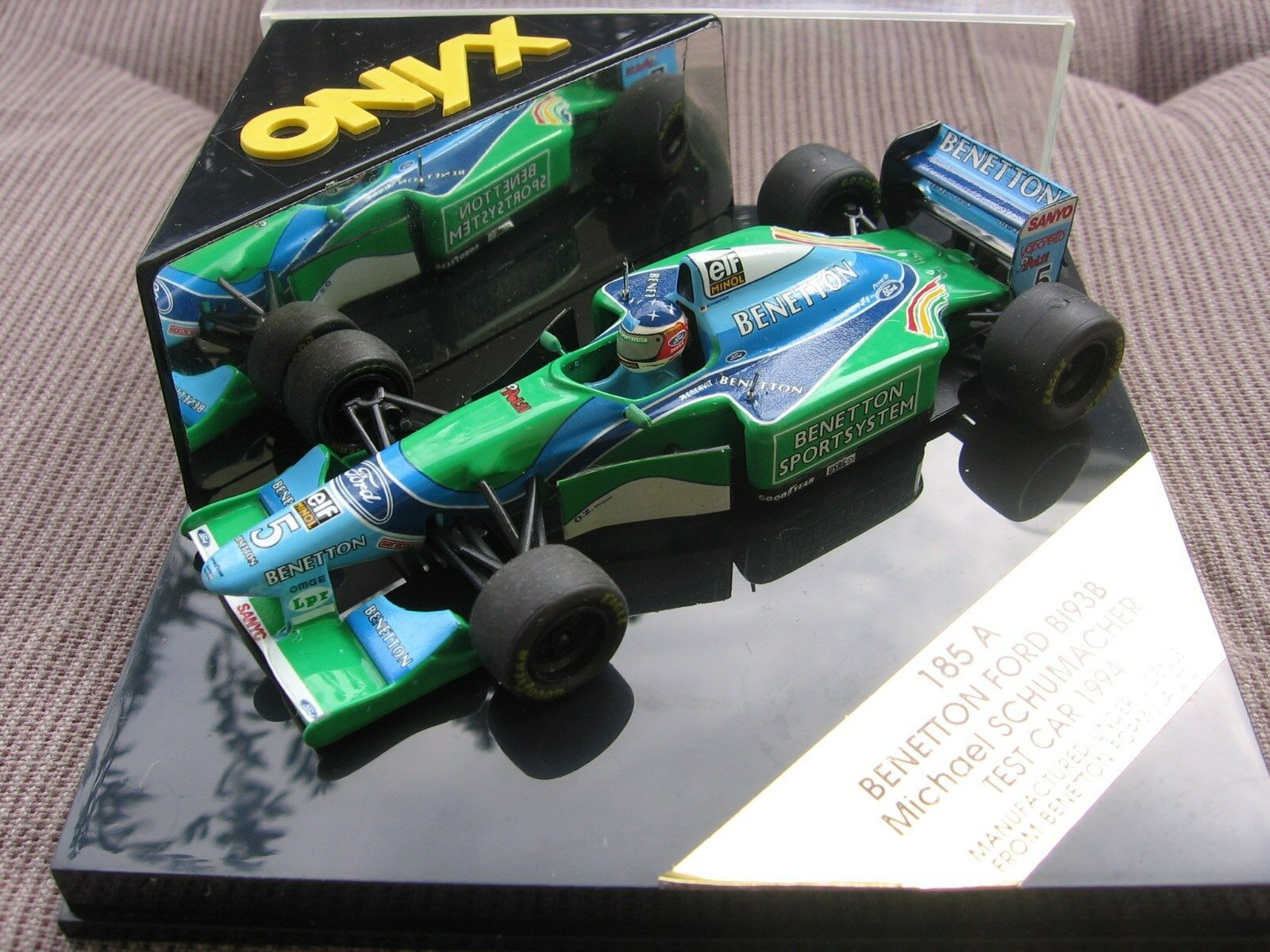 MSC Schumacher F1 Benetton Ford B193B TEST CAR 1994 1 43 OVP