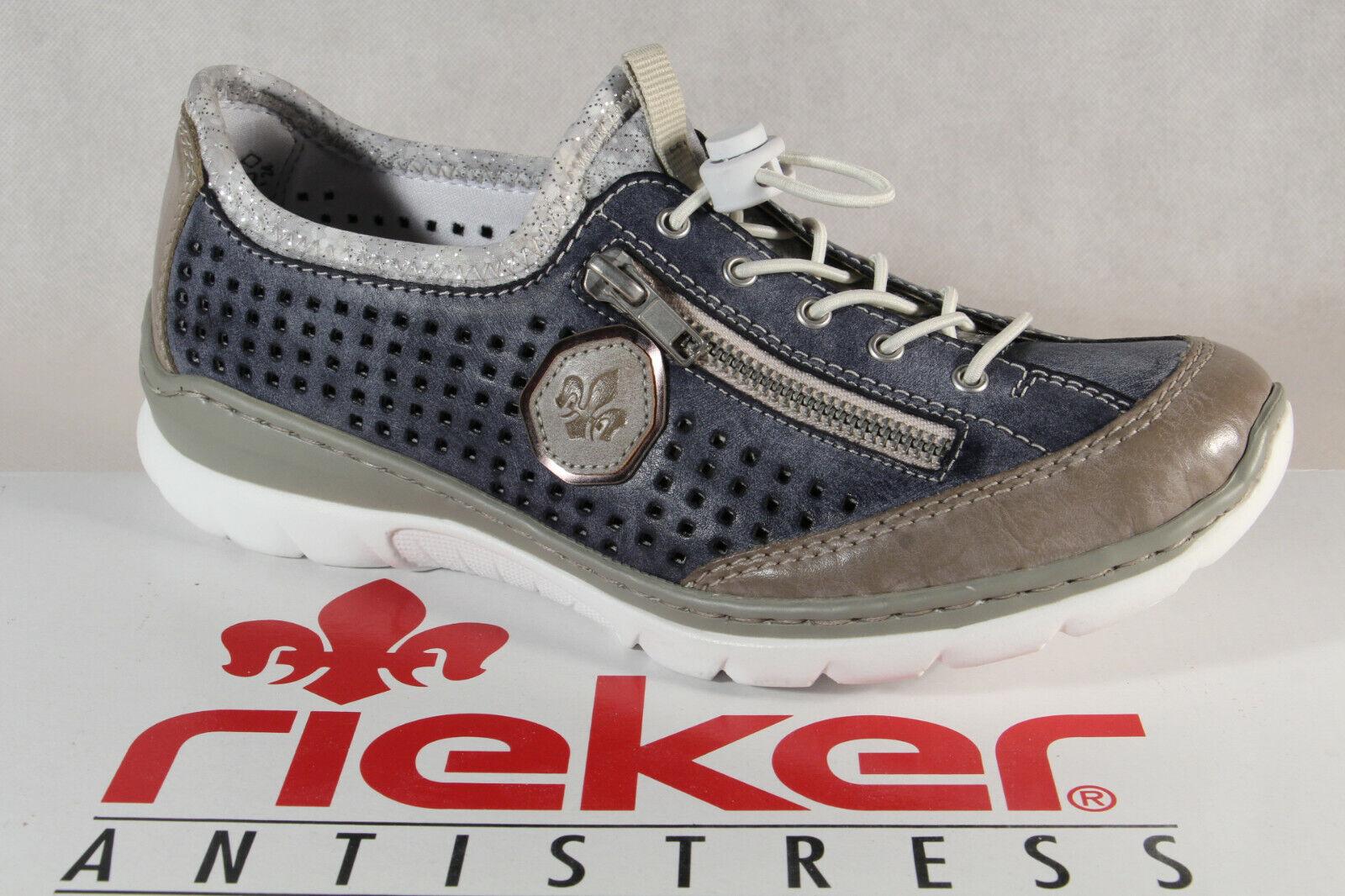 Rieker Slippers scarpe da  ginnastica Low scarpe Trainers Ballerina blu L3296 Memosoft Nuovo  risparmia fino al 50%