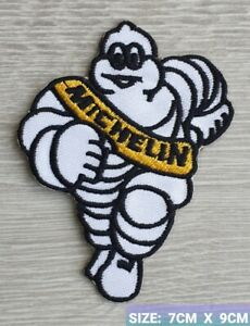 Michelin Man Biker  Motor logo Badge Embroidered Iron On/Sew On Patch