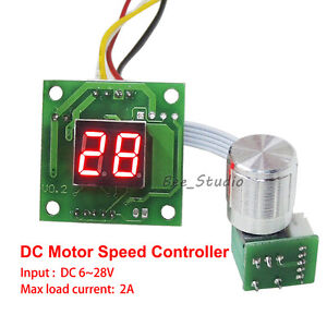 Led digital display switch dc 6v 12v 24v 2a small motor for Small dc motor speed control
