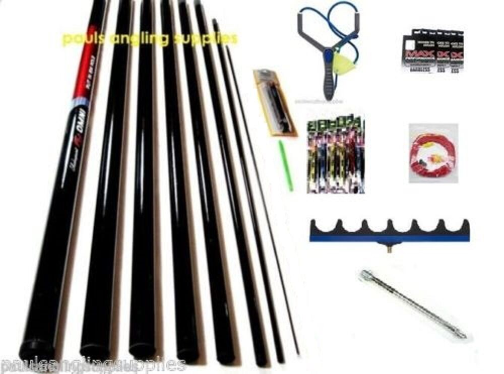 Shakespeare 8m Take Apart Fishing Pole Starter Kit, Catapult , Roost ,Pole Rigs