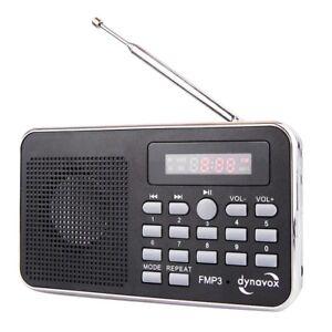 kleines radio mit akku dynavox fmp3 mp3 radio mit sd usb und 3 2 mm klinke ebay. Black Bedroom Furniture Sets. Home Design Ideas
