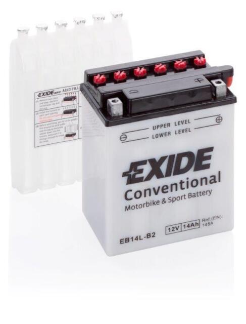 Motorradbatterie Exide YB14L-B2 EB14L-B2 12v 14AH 180a 135X90X165MM Säure