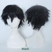 Hot Anime Wig Short Straight Hair Cosplay Heat Resistant Wigs Fashion Unisex #4b