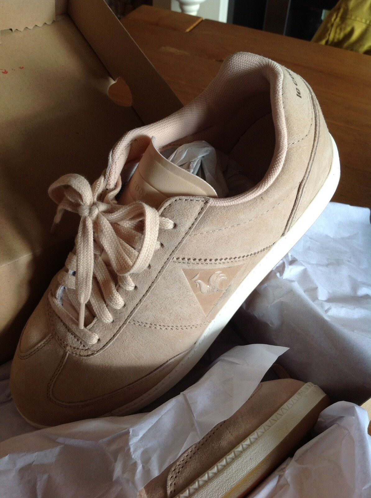 Le Coq Sportif Ladies Trainers Light Tan Marshmallow