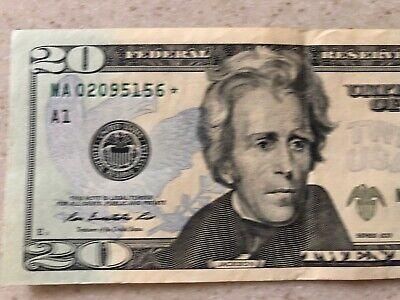 2013 $20 TWENTY DOLLAR BILL STAR ✯ NOTE RICHMOND Federal Reserve