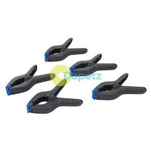 """2 x 6"""" Forte Plastique Spring Clamps Stand De Marché Clips Nylon Large Bâche"""