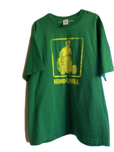 Vintage King Of The Hill Shirt Green Size XL