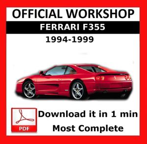 official workshop manual service repair ferrari f355 1994 1999 rh ebay co uk 1999 Ferrari F355 1997 Ferrari F355