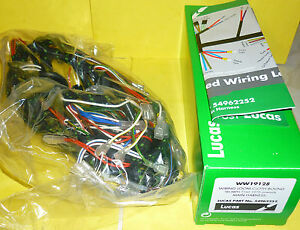genuine lucas wiring harness triumph trident t160 image is loading genuine lucas wiring harness triumph trident t160 made