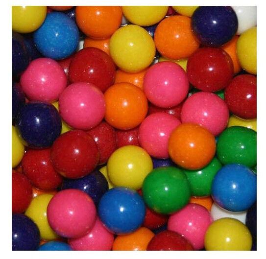 "Dubble Bubble ASSORTED Gumballs Bulk Vending 3/4"" 19mm 8 lbs"