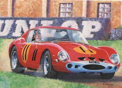 Ferrari GTO Nostalgic Greetings Card Motorsport Graham Hill