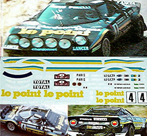 lancia stratos le point rmc 1981 1 32 autocollant d calcomanie ebay. Black Bedroom Furniture Sets. Home Design Ideas