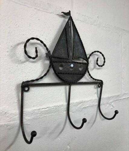 Rustique Métal Yacht sur porte et mur nautique salle de bain crochet 1 3 /& 5 crochets