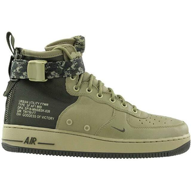 separation shoes 5e4d0 badce Nike SF Af1 Air Force 1 Mid Mens 917753-201 Olivecargo Size 11