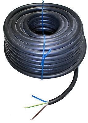 10 Meter schwarz Starkstrom-Erdkabel NYY-J 3x2,5 mm²
