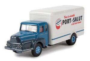 "Unic Izoard ZU 122 camion fourgon ""Port-Salut"" - Brekina - Echelle 1/87 (HO)"