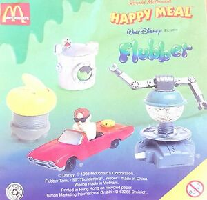 McDonalds-Happy-Meal-Toy-1998-Flubber-Robot-Plastic-Character-Toys-Various