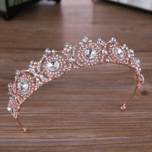 Rhinestone-Crystal-Tiara-Hair-Band-Kid-Girl-Bridal-Princess-Crown-Headband-Gift