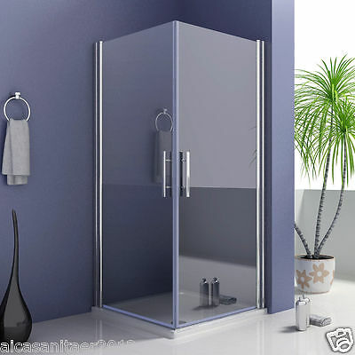 Duschkabine Schwingtür Duschwand Duschabtrennung Echtglas Eckeinstieg Dusche A1