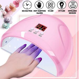 36W-12-LED-UV-Nail-Lampe-Nail-Gail-Gel-Seche-Machine-Sechoirs-a-Ongles-Manucure