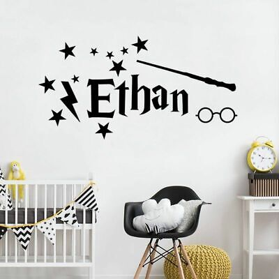 Personalized Name Vinyl Wall Decal Font Design Wall Sticker Customized Nursery