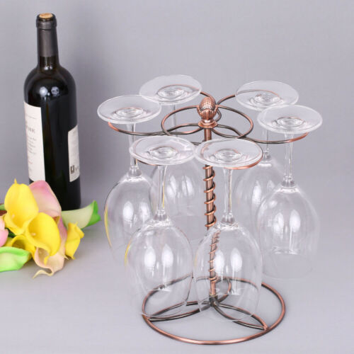 Wine Glass Cup Holder Red Wine Rack Shelf Rotatable Home Bar Accessories Q0D4