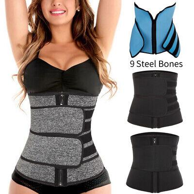 Women Slim Sweat Premium Waist Trainer Warp Neoprene Belt Hot Sauna Body Shaper | eBay