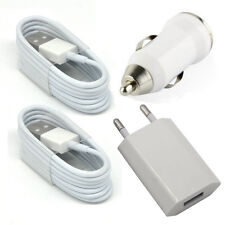 EU Wall Charger + Car Charger + 2 x 8 Pin Data Sync Cable For iPhone 7 6 5 5S SE