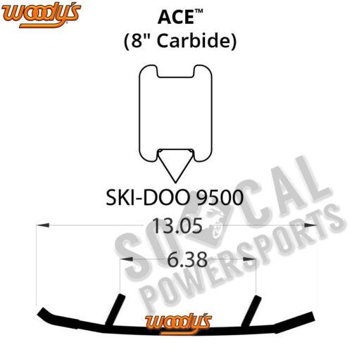 "2014-2017 Woody/'s Ace 8.0/"" Carbide Runners Ski Doo Renegade Adrenaline 900 ACE"