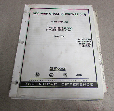 2000 jeep grand cherokee parts manual