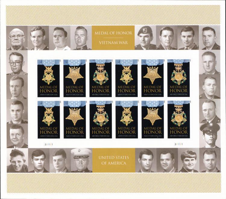 2015 49c Medal of Honor, Vietnam War Scott 4988a Mint S