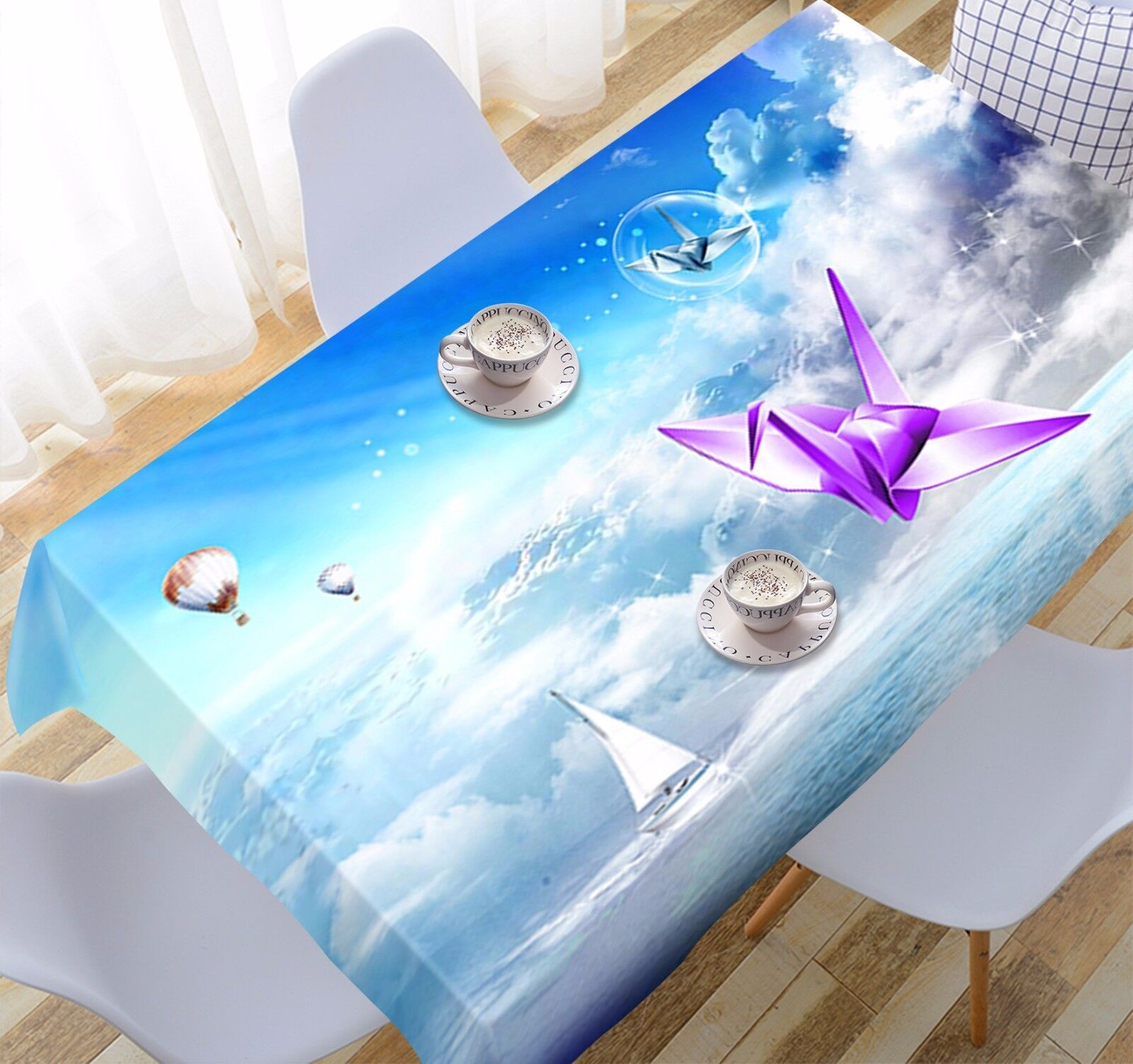3D Origami 93 Tablecloth Table Cover Cloth Birthday Party Event AJ WALLPAPER UK