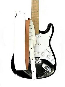 New-Adjustable-Genuine-Leather-Strap-for-Electric-Acoustic-Bass-Guitar-White