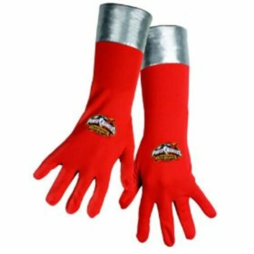 Power Ranger Gloves Operation Overdrive One Size Child Red /& Silver  2-4A