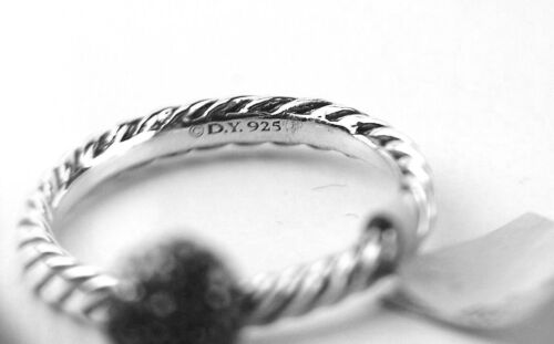 DAVID YURMAN STERLING SILVER 10 MM SILVER CABLE BALL SIZE 7 STACK RING NEW #11