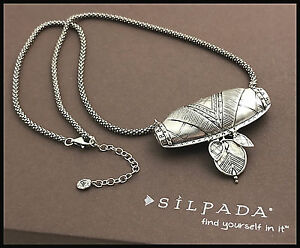 SILPADA-NEW-925-Sterling-Silver-Etched-034-Party-Perfect-034-Pendant-Necklace