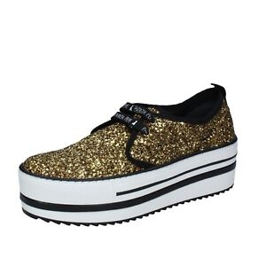 0d8abbeb5c6 women's shoes PATRIZIA PEPE 7 (EU 37) sneakers gold glitter textile ...