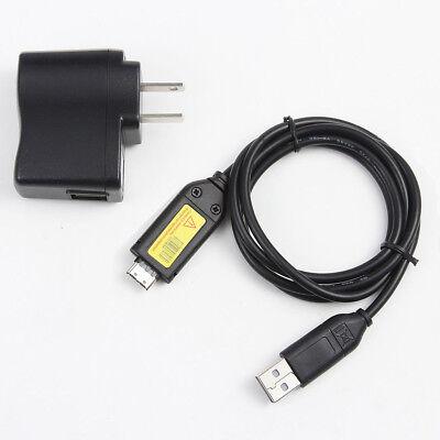 Samsung Cámara Digital batería charger//usb Cable Sl310 Sl310w Sl420 Sl502
