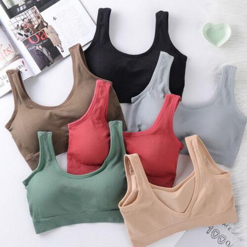 Sport BH Bustier mit Tasche TOP Shirt seamless ohne Bügel Yoga Fitness Damen