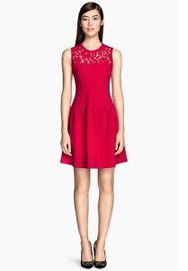b46ed9c05367 Caricamento dell immagine in corso Vestito-donna-in-pizzo-rosso-H-amp-M-