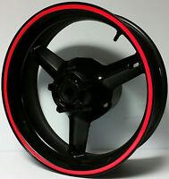 Red Reflective Wheel Stripes Rim Stickers Tape Decals Suzuki Gsxr 600 750 1000 S