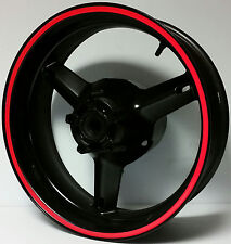 RED REFLECTIVE WHEEL STRIPES RIM STICKER TAPE DECAL DUCATI MONSTER STREETFIGHTER